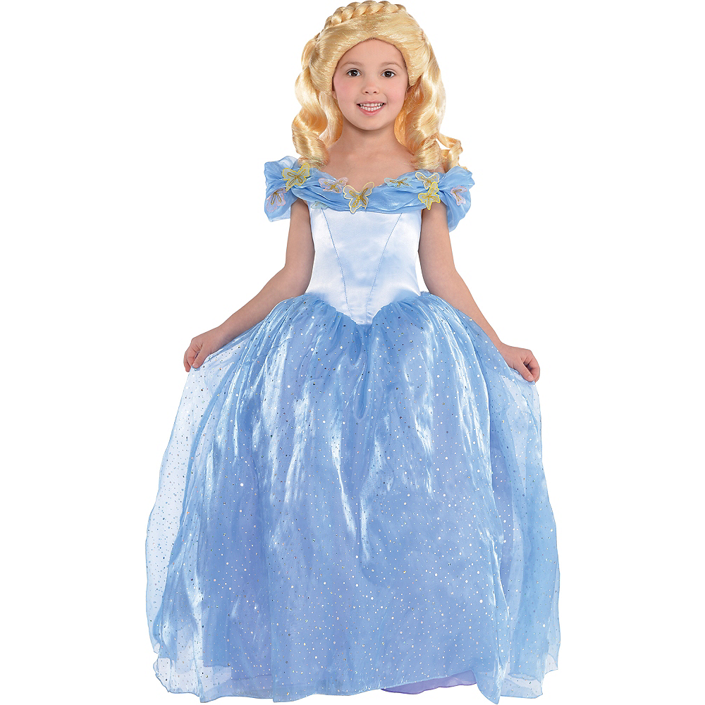 a807bc58cdd Girls Cinderella Costume - Disney Cinderella Movie Image  1 ...