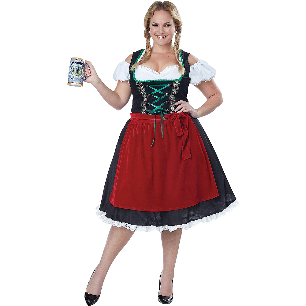 Adult Oktoberfest Beer Wench Costume Plus Size Image #1