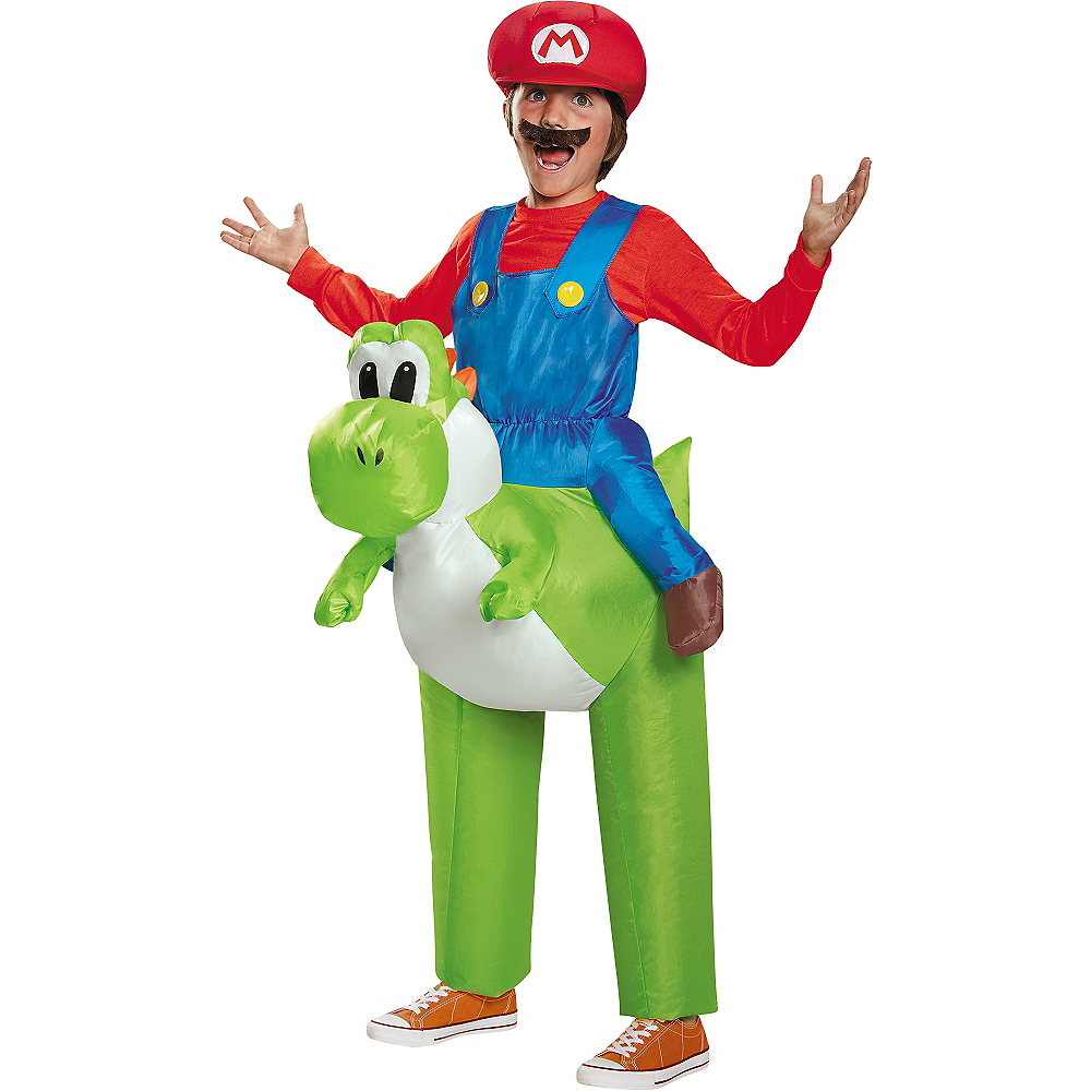 Boys Mario Riding Yoshi Costume - Super Mario Brothers | Party City
