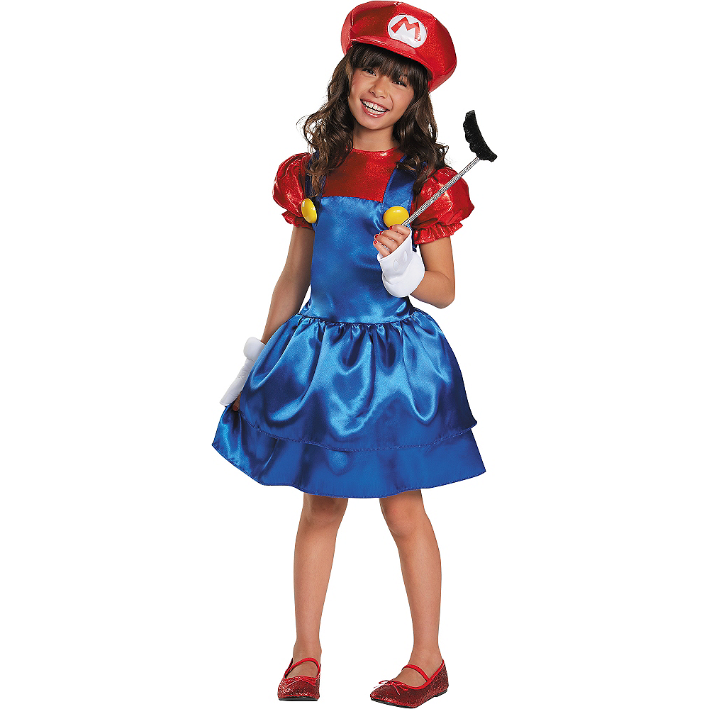 Girls Miss Mario Costume - Super Mario Brothers Image #1