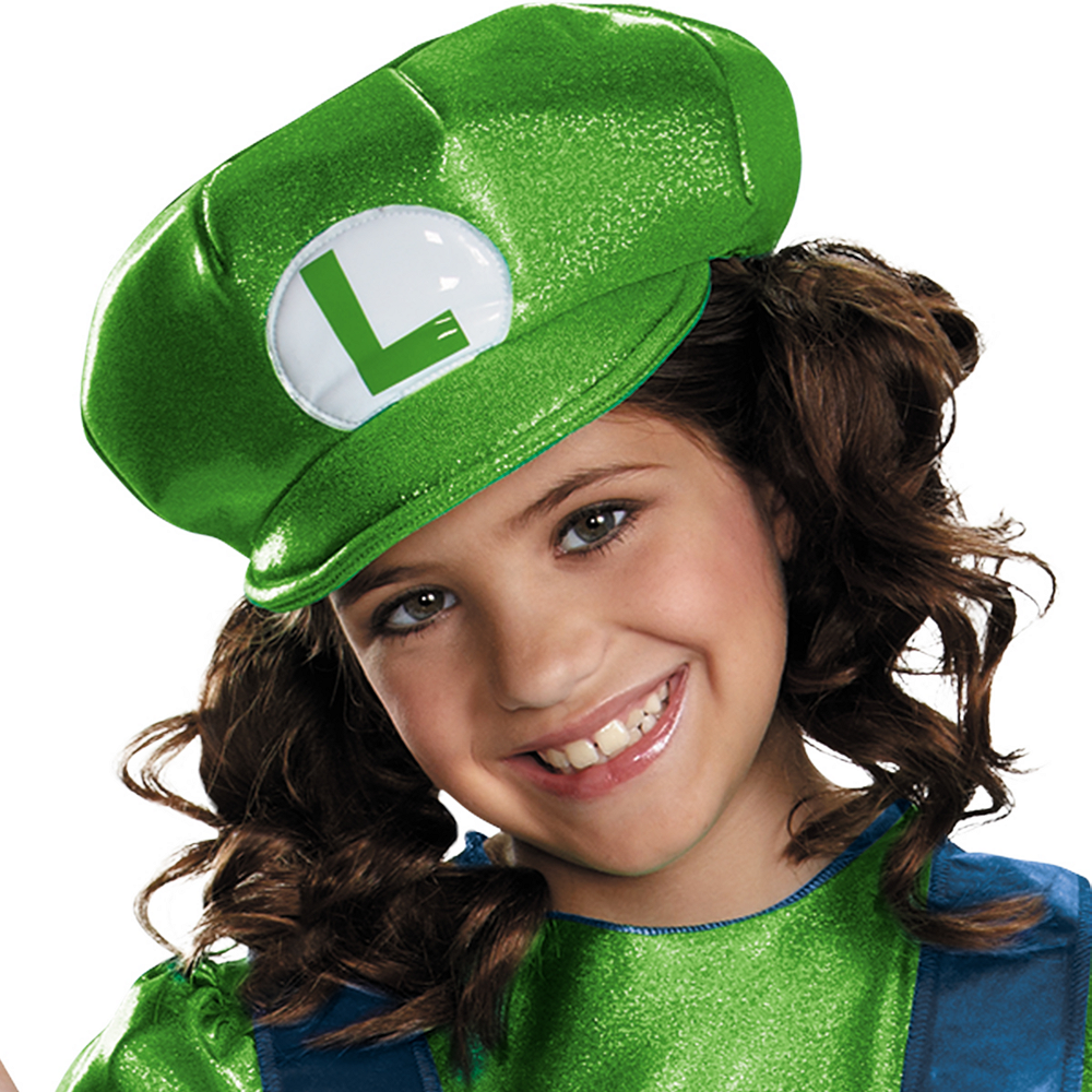 Girls Miss Luigi Costume - Super Mario Brothers Image #2