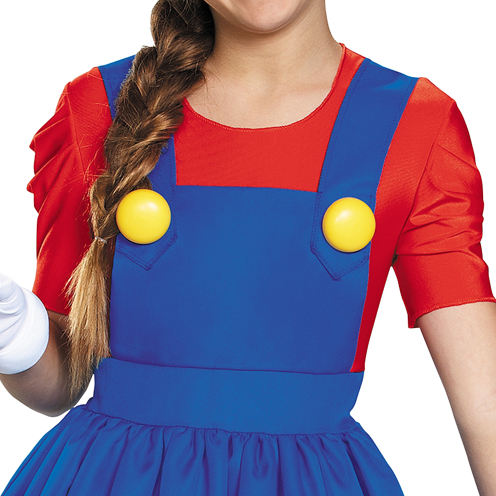 Tween Girls Miss Mario Costume - Super Mario Brothers Image #4