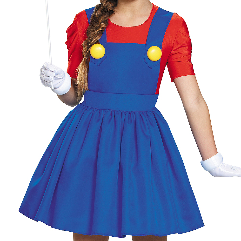 Tween Girls Miss Mario Costume - Super Mario Brothers Image #5