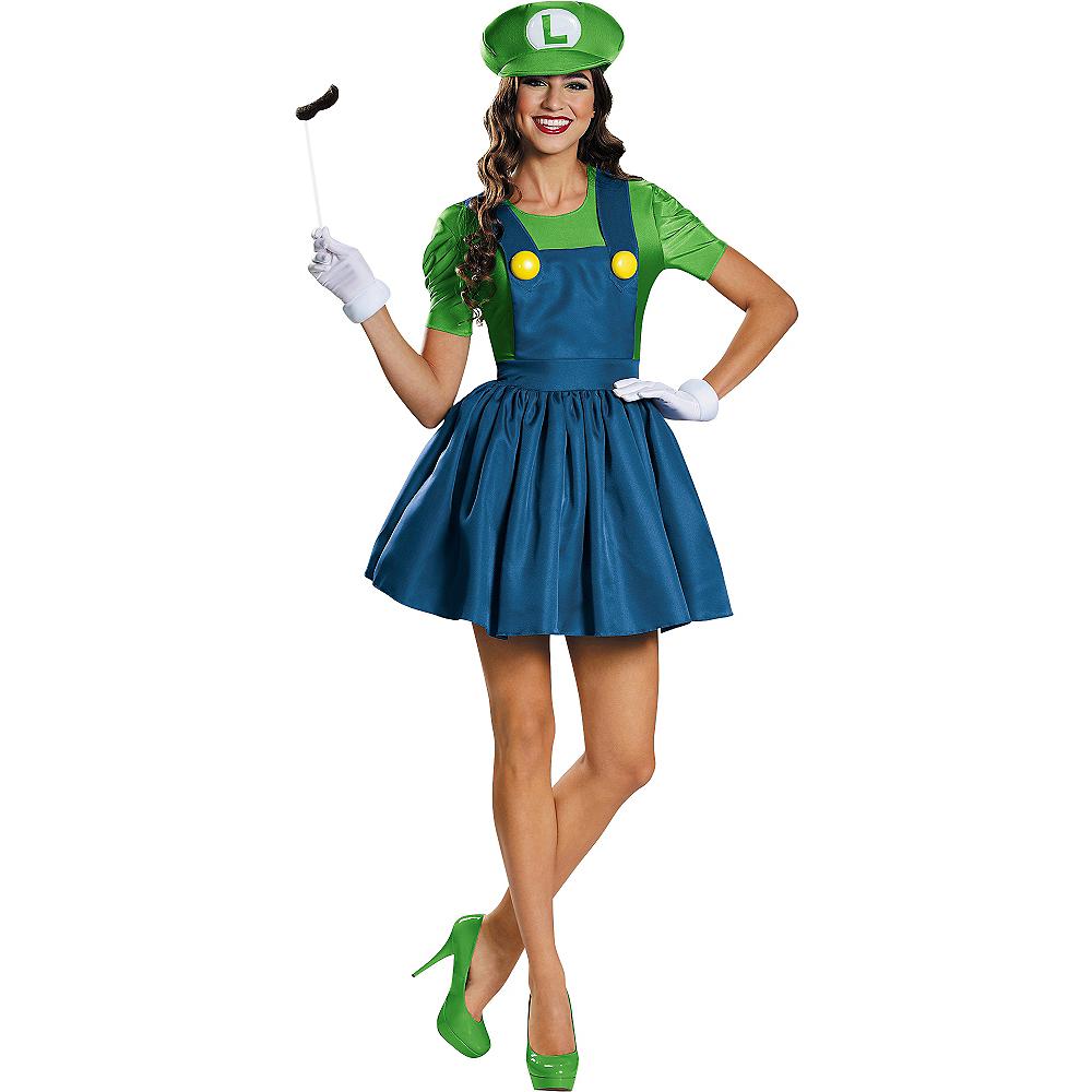 Adult Miss Luigi Costume - Super Mario Brothers Image #1