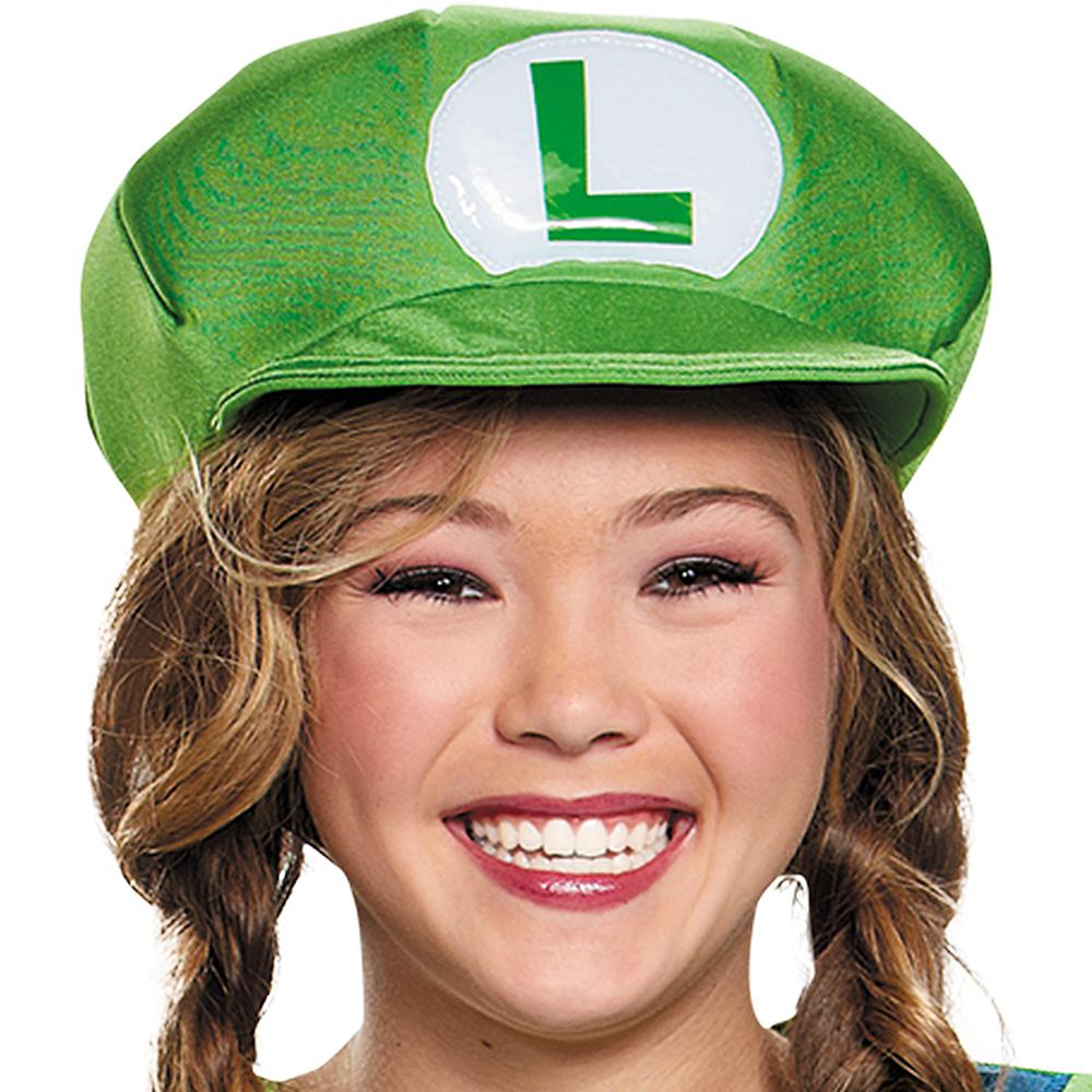 Tween Girls Miss Luigi Costume - Super Mario Brothers Image #2