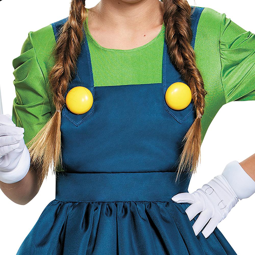 Tween Girls Miss Luigi Costume - Super Mario Brothers Image #4