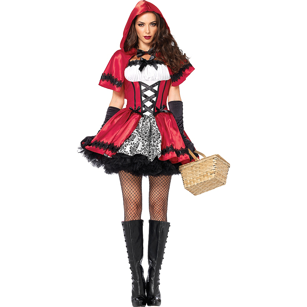 Nav Item for Adult Gothic Red Riding Hood Costume Image #1