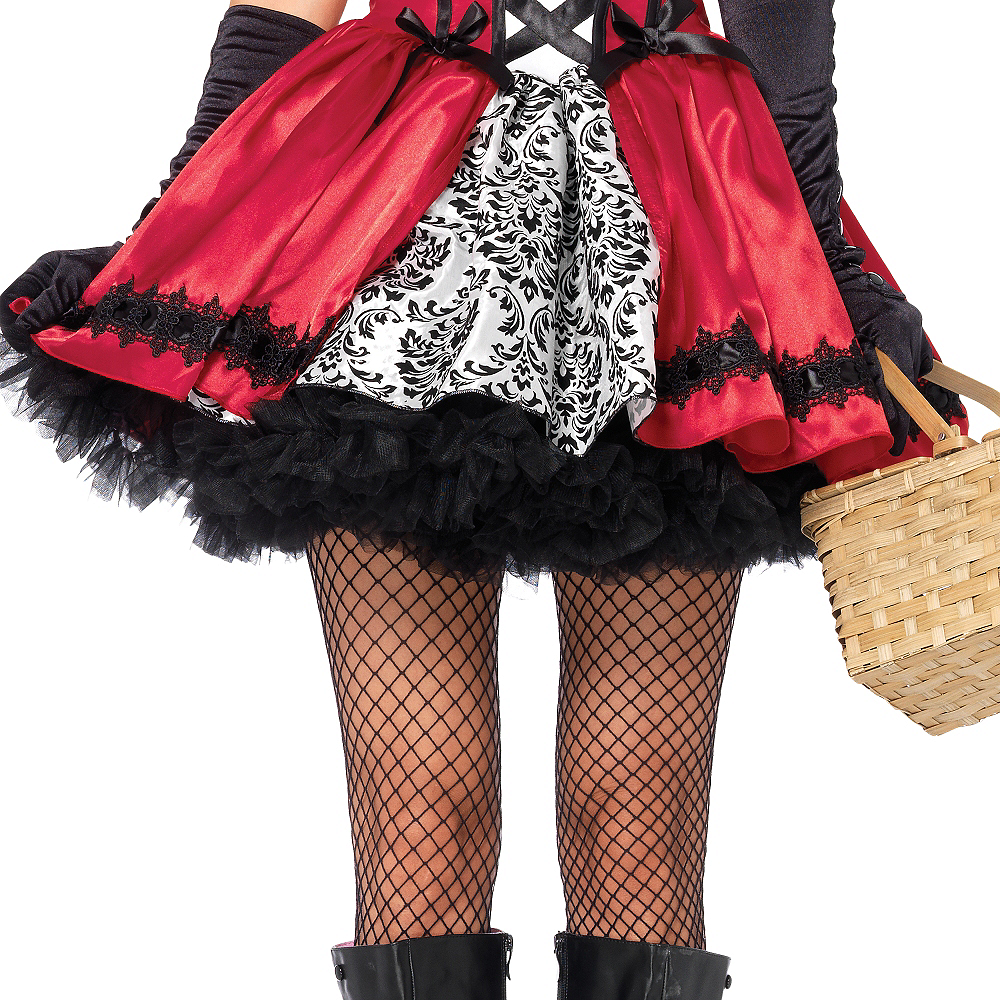 Nav Item for Adult Gothic Red Riding Hood Costume Image #3