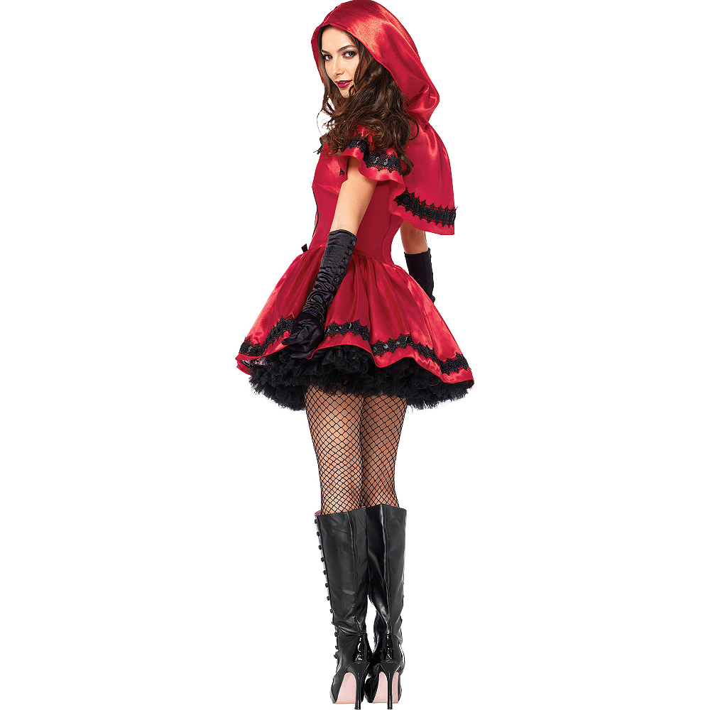 Nav Item for Adult Gothic Red Riding Hood Costume Image #4