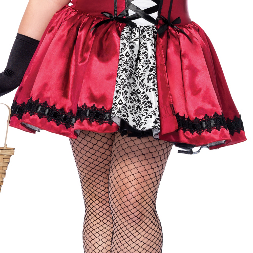 Adult Gothic Red Riding Hood Costume Plus Size Image #4