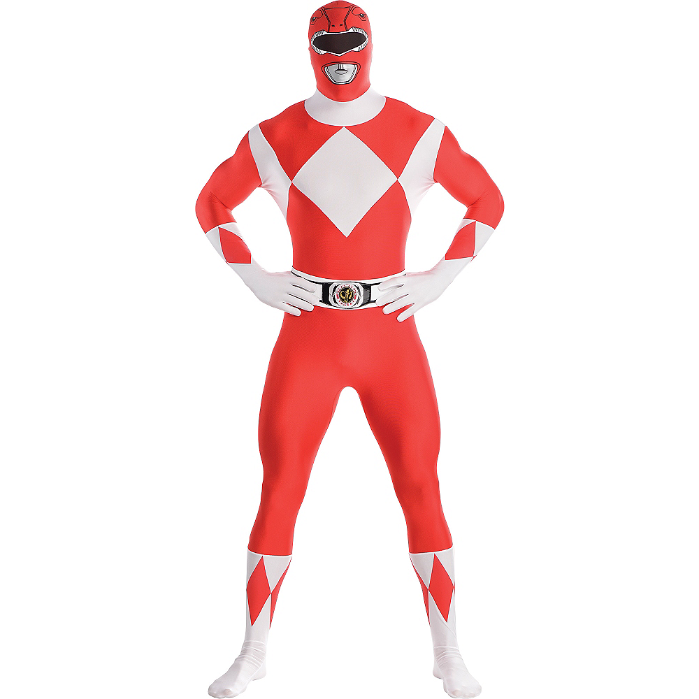 Adult Red Power Ranger Partysuit - Mighty Morphin Power Rangers Image #1