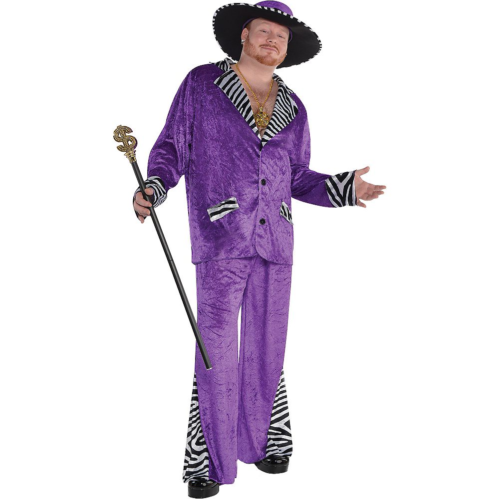 Adult Sugar Daddy Pimp Costume Plus Size Image #1