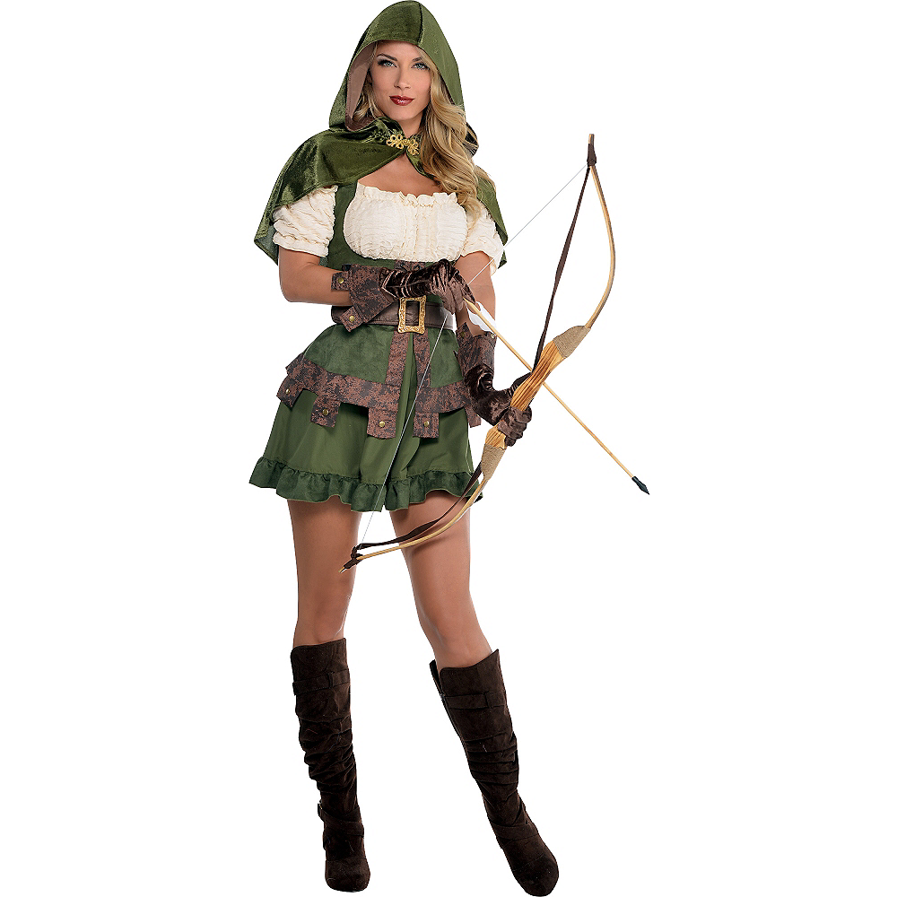 Adult Lady Robin Hood Costume Image #1