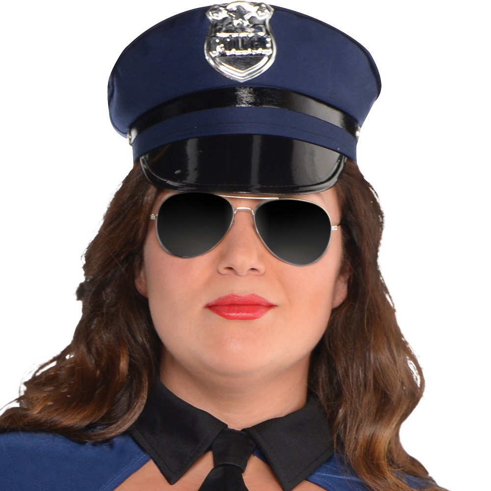 Nav Item for Adult Bad Cop Costume Plus Size Image #2