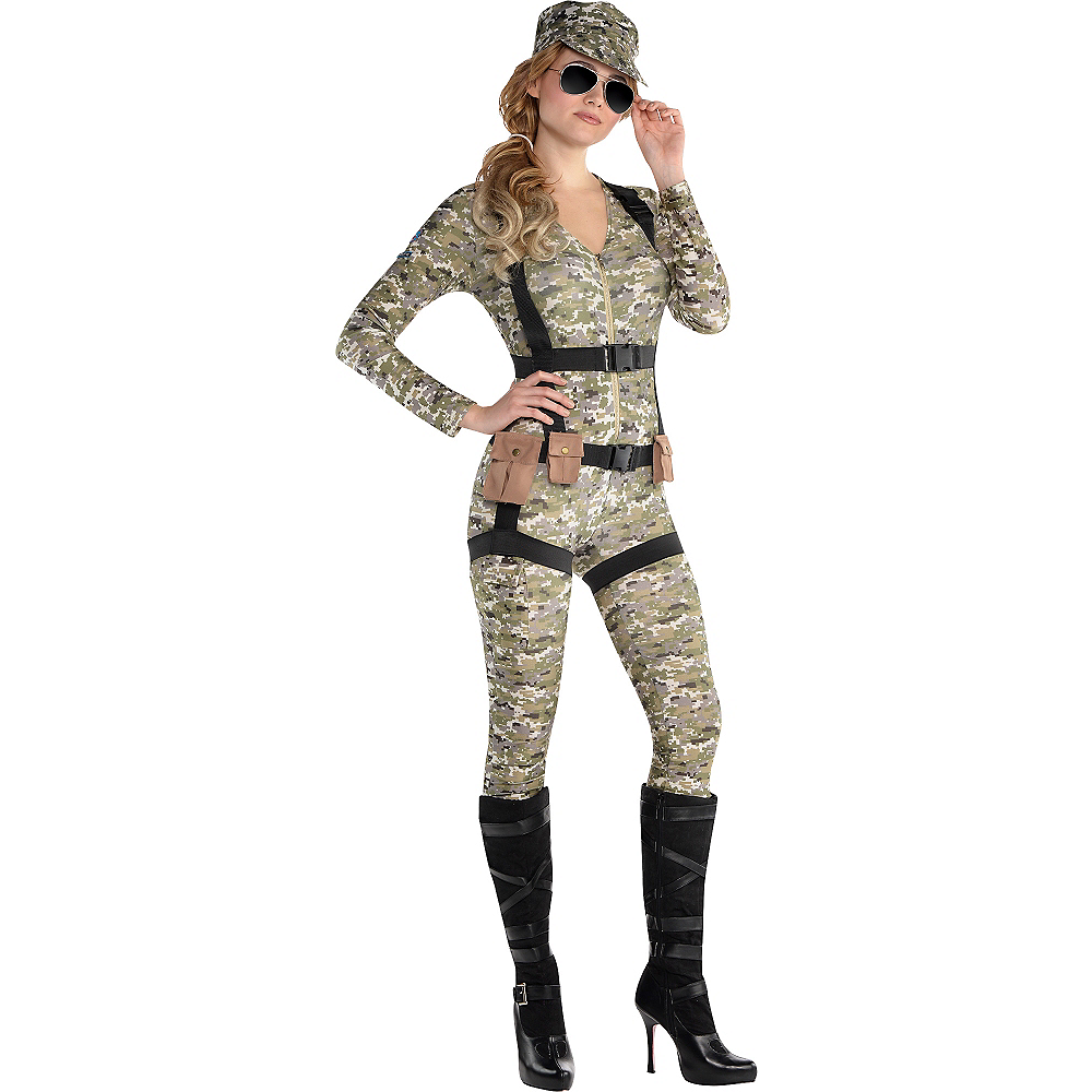 Nav Item for Adult Skyfall Suzie Paratrooper Costume Image #1