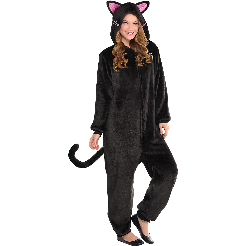 62a35b0e0932 Adult Zipster Black Cat One Piece Costume