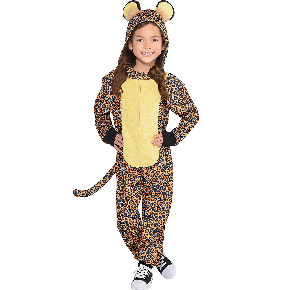 Toddler Girls Zipster Leopard One Piece Costume Image #1