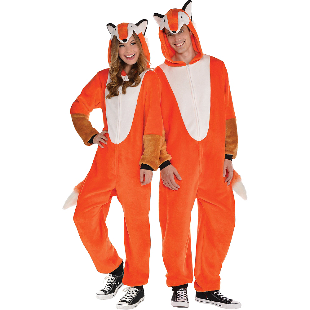 Adult Zipster Fox One Piece Costume Image #1