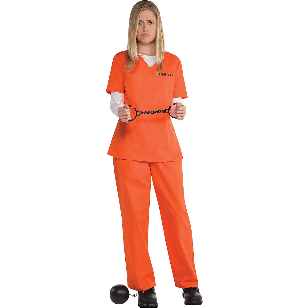 Adult Orange Prisoner Costume Image #1