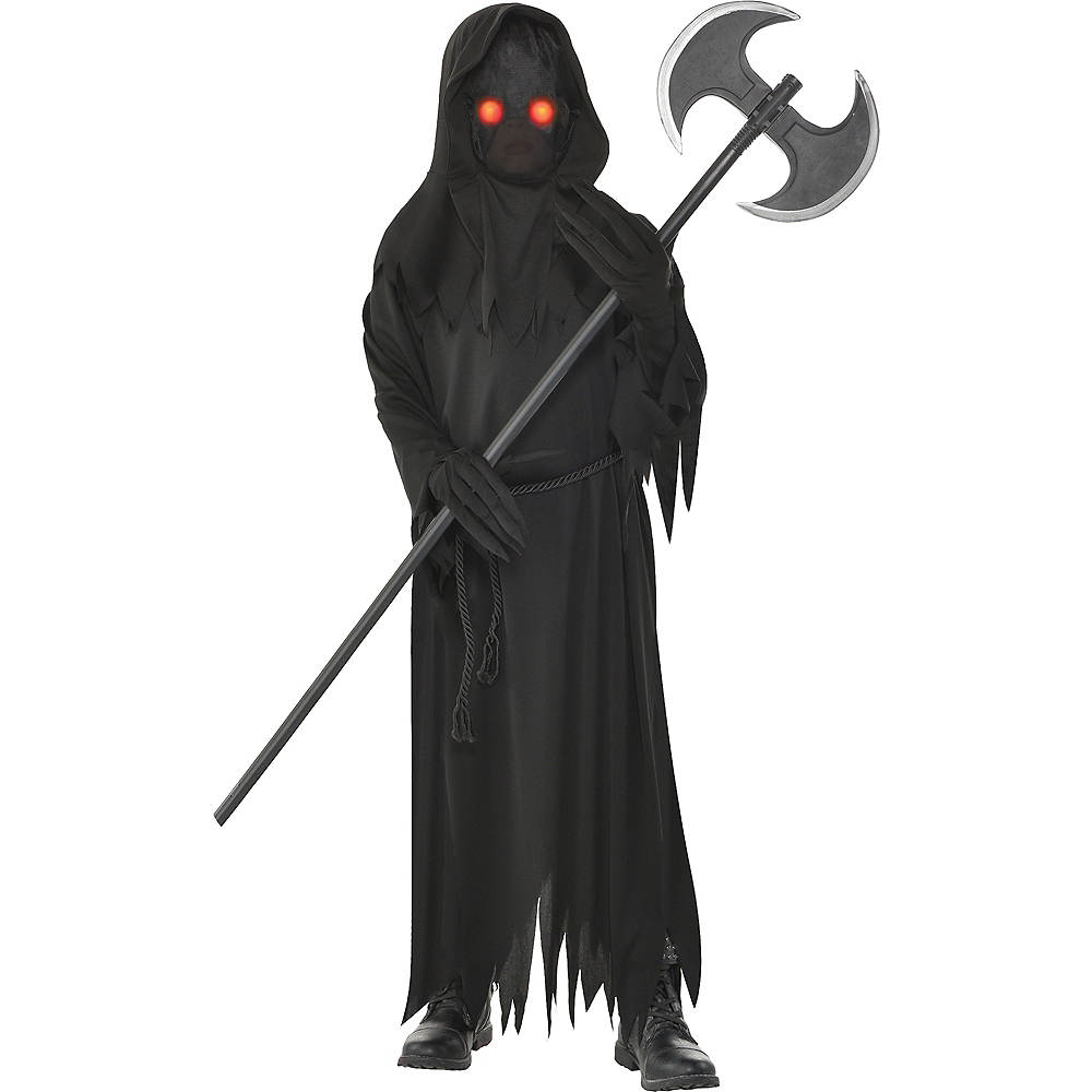 Boys Light-Up Glaring Grim Reaper Costume Image #1