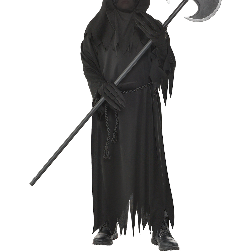 Nav Item for Boys Light-Up Glaring Grim Reaper Costume Image #3