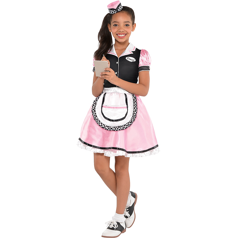 b27680a62a84 Girls Dinah Girl Waitress Costume | Party City Canada