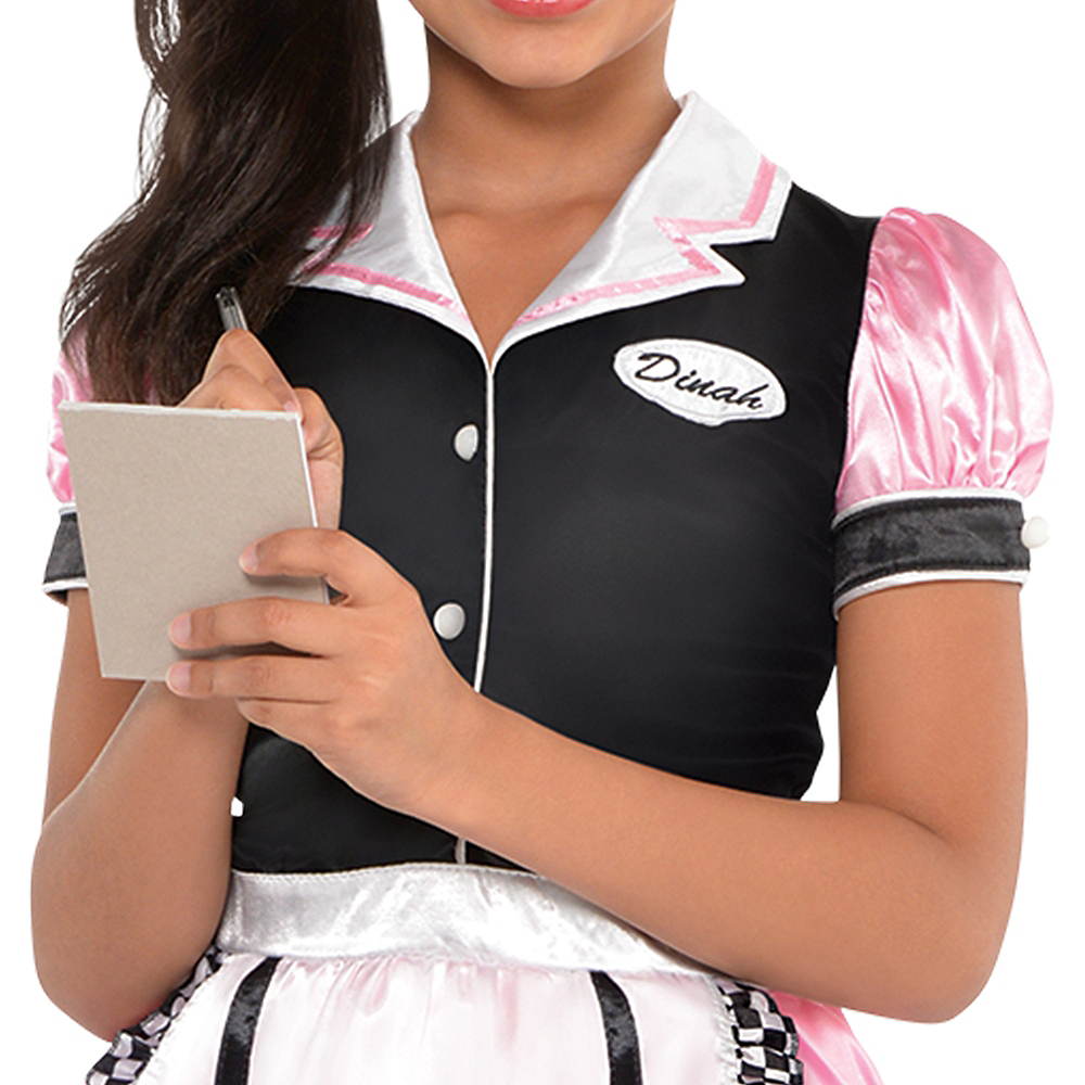 Girls Dinah Girl Waitress Costume Image #3