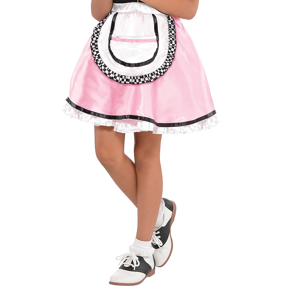Girls Dinah Girl Waitress Costume Image #4
