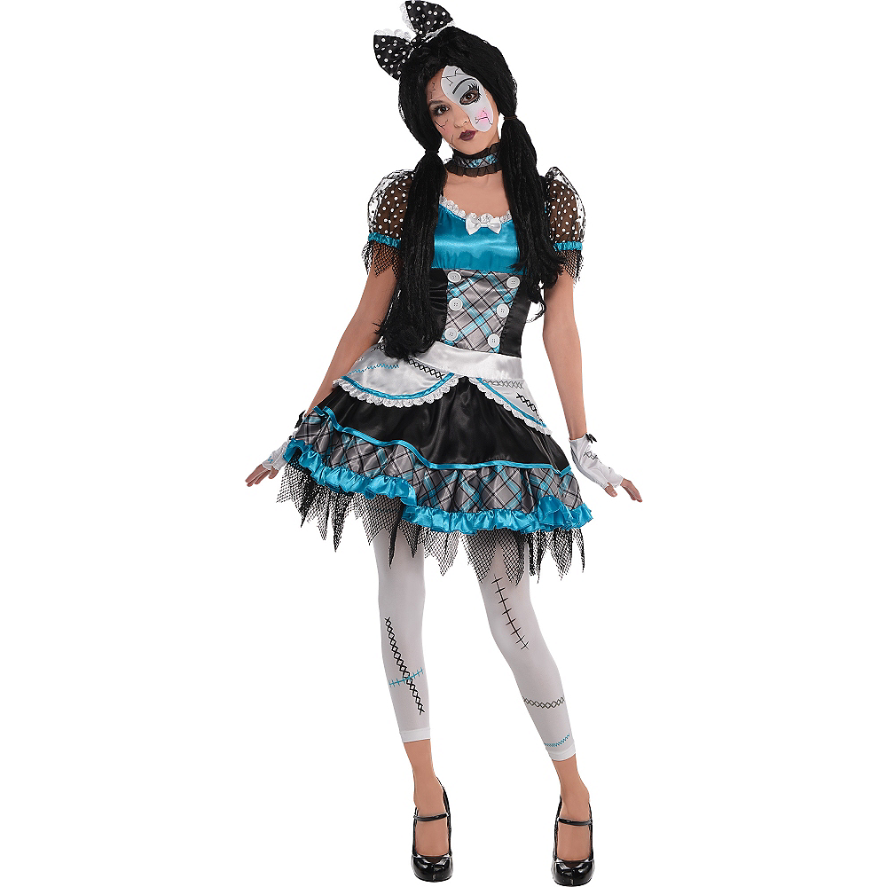 Adult Shattered Doll Costume Image #1