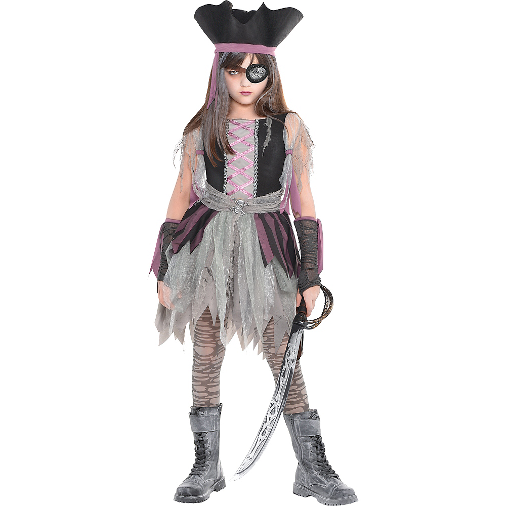 Girls Haunted Pirate Costume Image #1