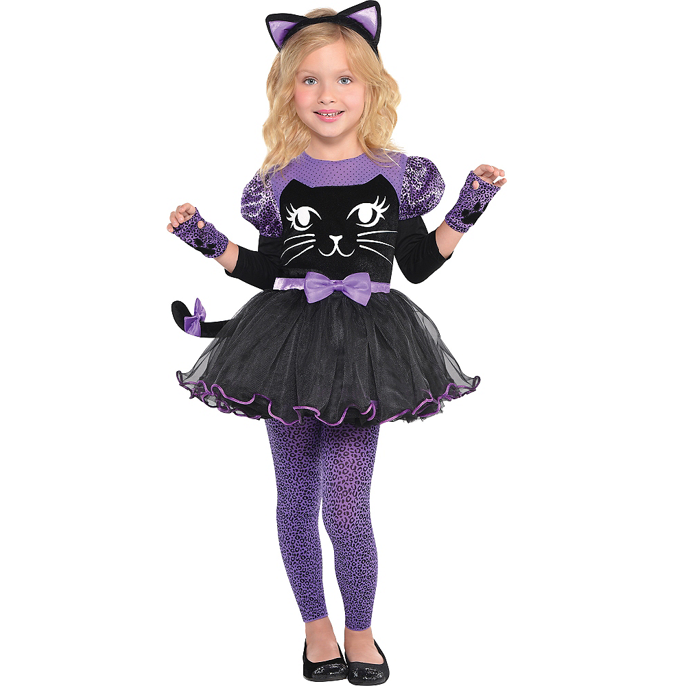 Girls Miss Meow Cat Costume Image #1