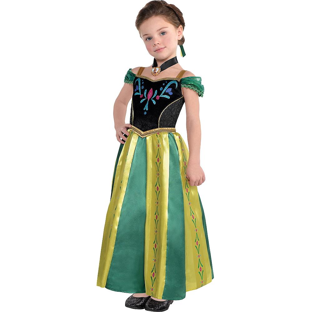 Girls Anna Coronation Costume - Frozen Image #1