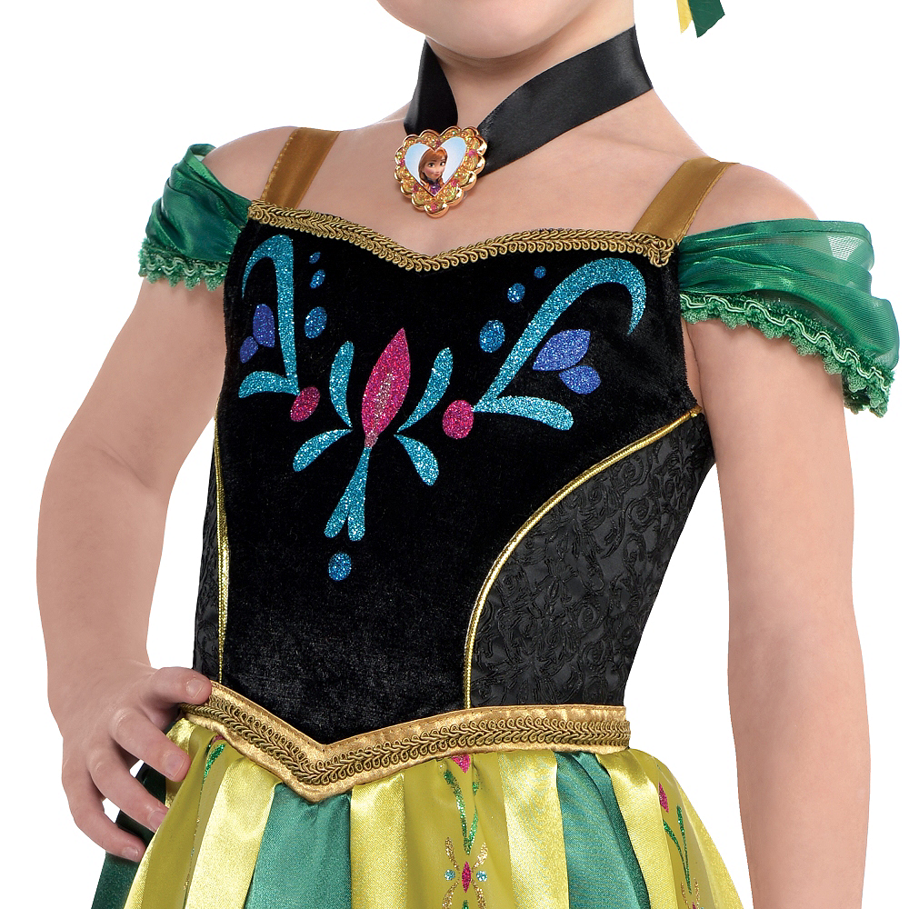 Girls Anna Coronation Costume - Frozen Image #3