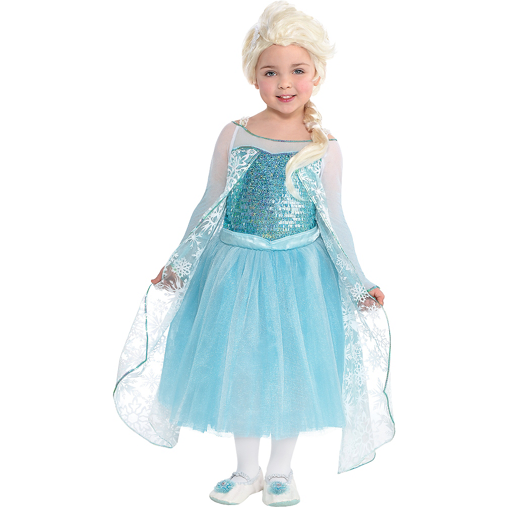 girls elsa costume premier frozen size 3 5 party city