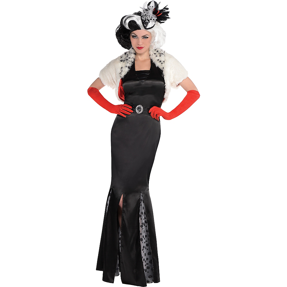 adult cruella de vil costume 101 dalmatians party city. Black Bedroom Furniture Sets. Home Design Ideas