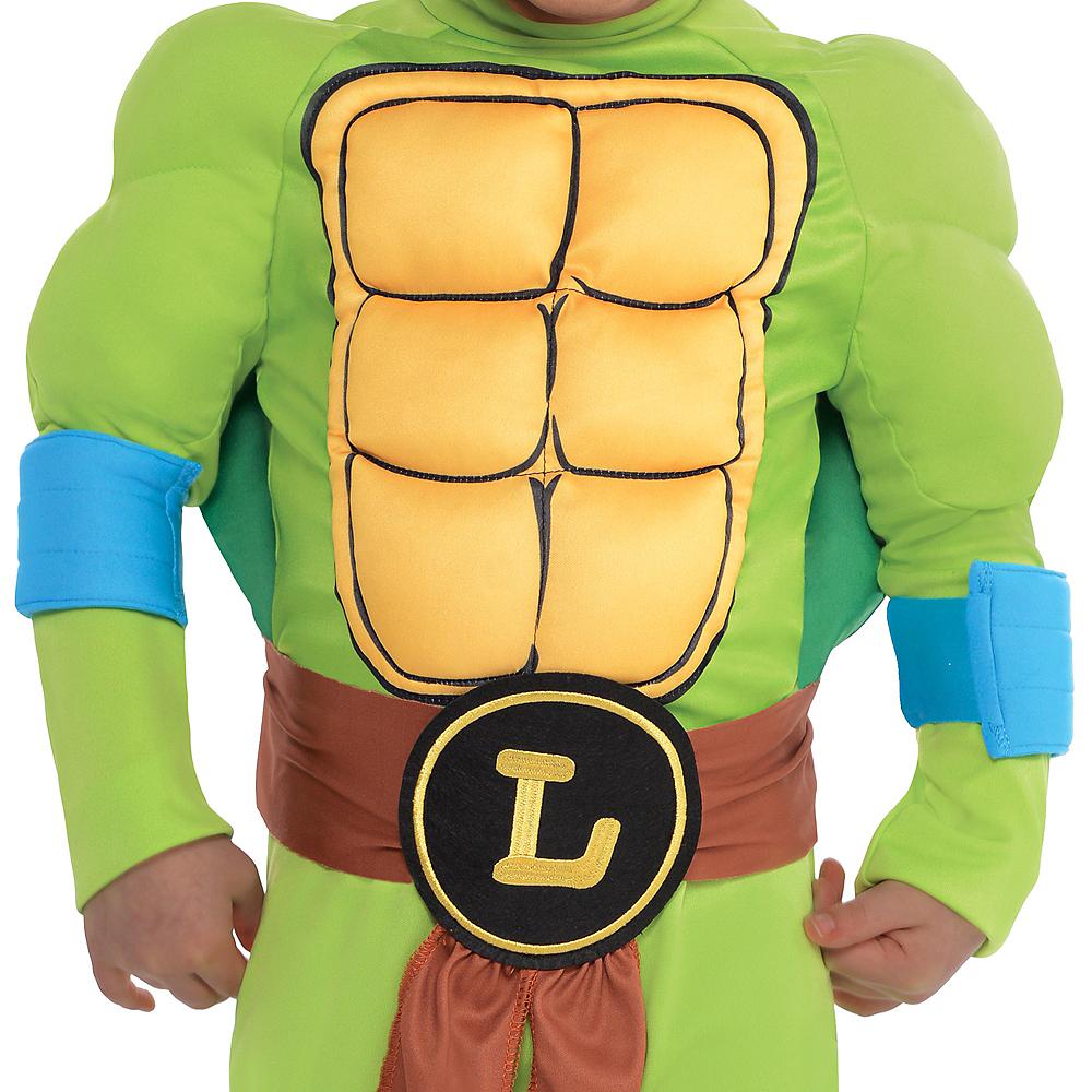Toddler Boys Leonardo Muscle Costume - Teenage Mutant Ninja Turtles Image #3