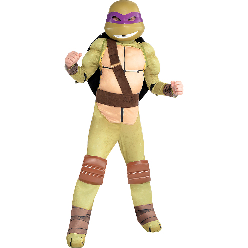 Boys Donatello Muscle Costume - Teenage Mutant Ninja Turtles | Party ...