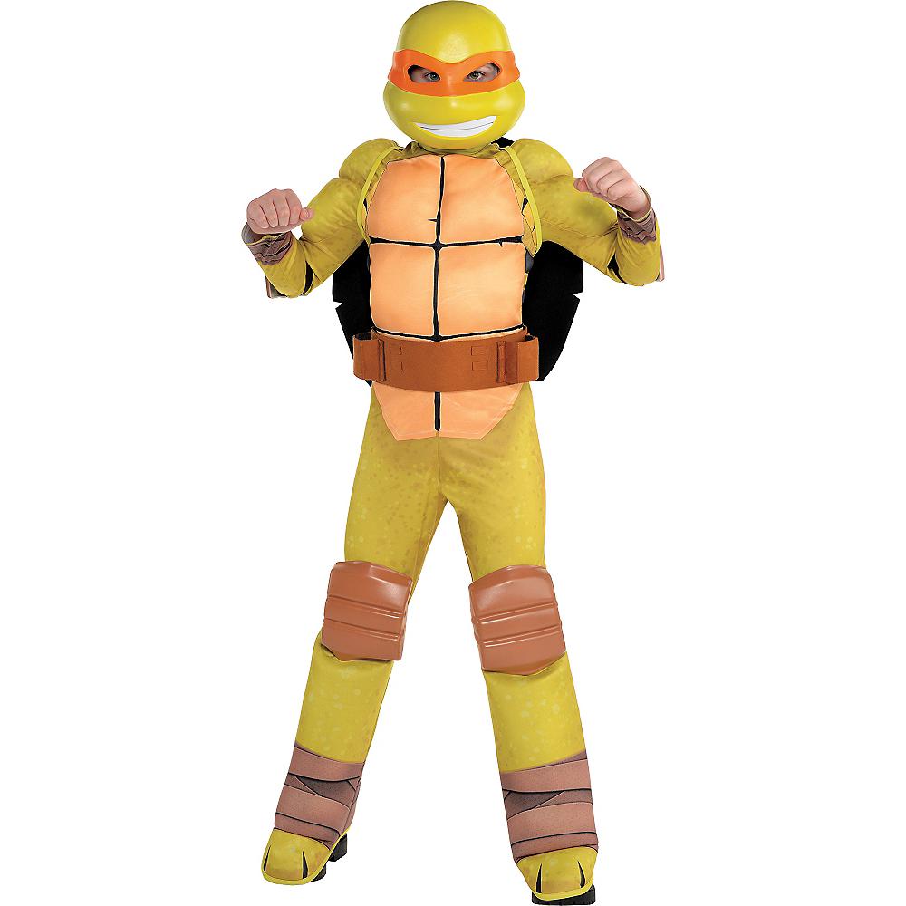 Boys Michelangelo Muscle Costume - Teenage Mutant Ninja Turtles Image #1