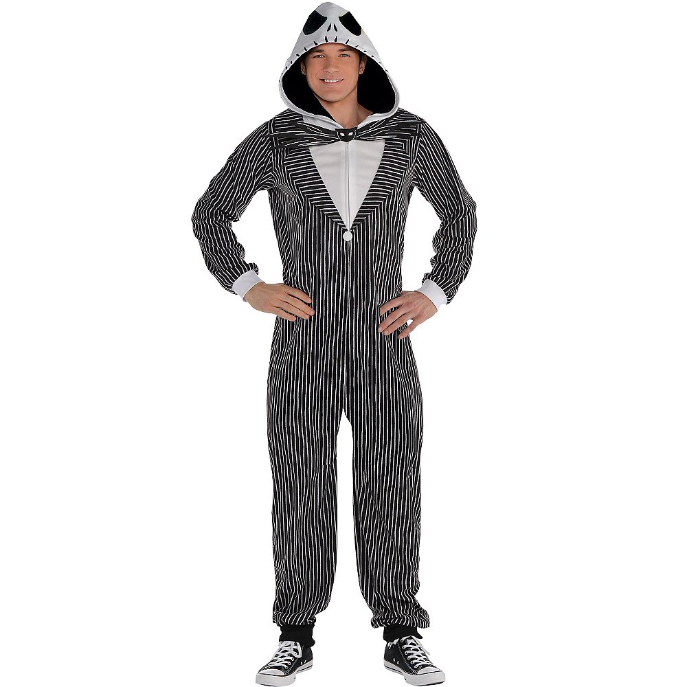 Adult Zipster Jack Skellington One Piece Costume - The Nightmare Before Christmas Image #1