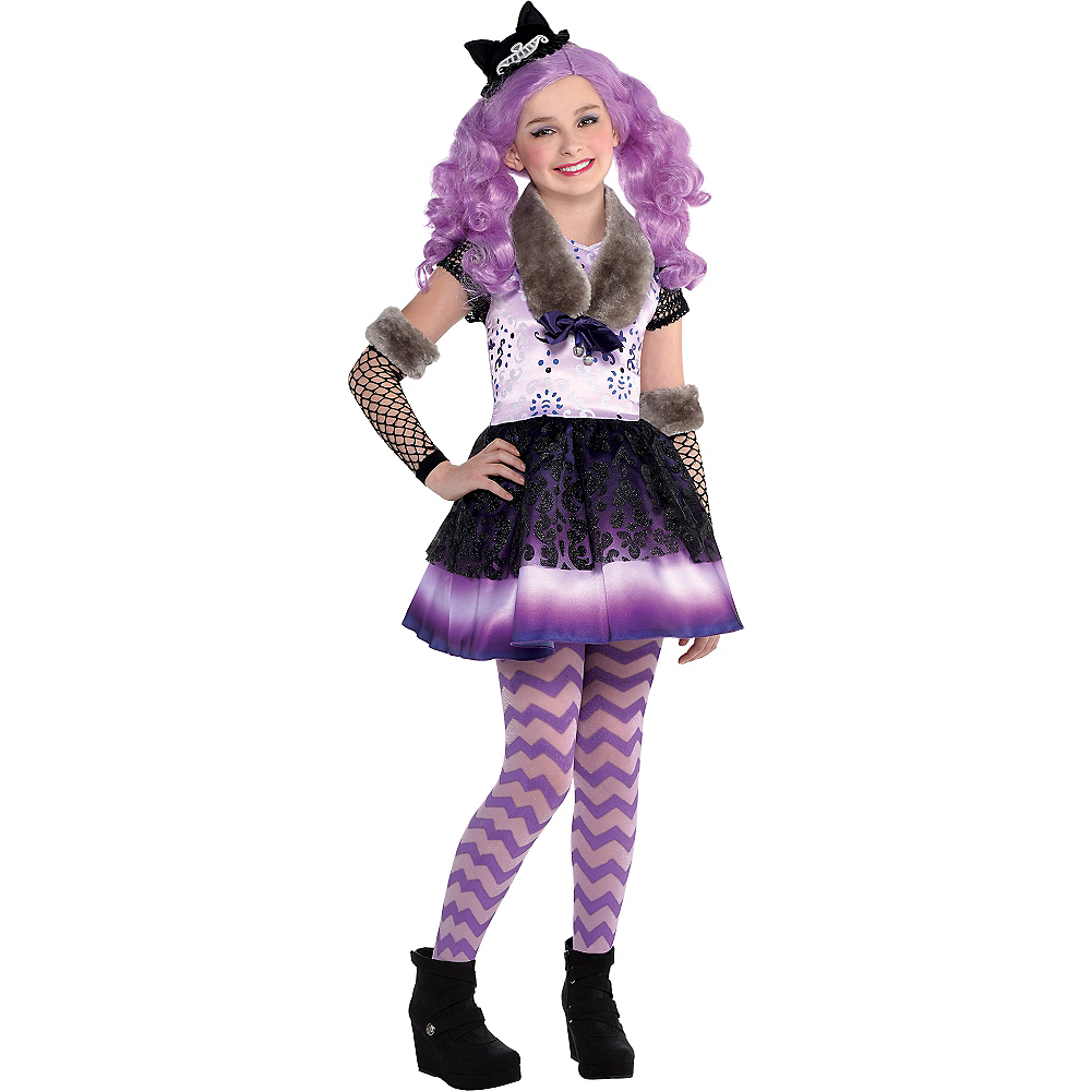 Girls Kitty Cheshire Costume - Ever After High Image #1