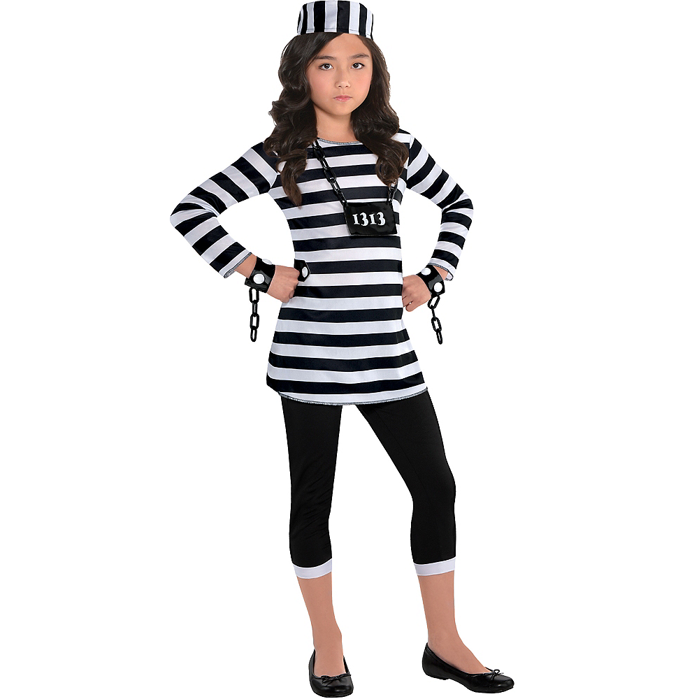 Girls Trouble Maker Prisoner Costume Image #1