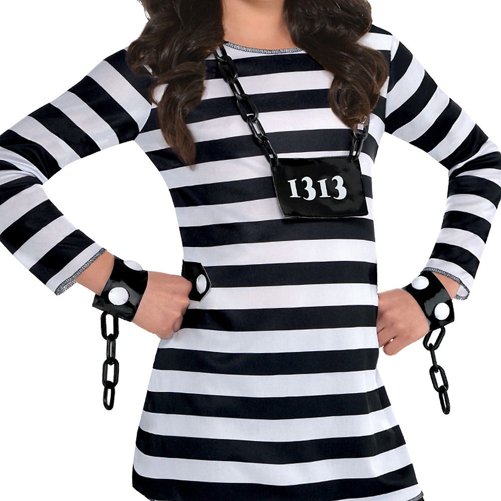 Girls Trouble Maker Prisoner Costume Image #3