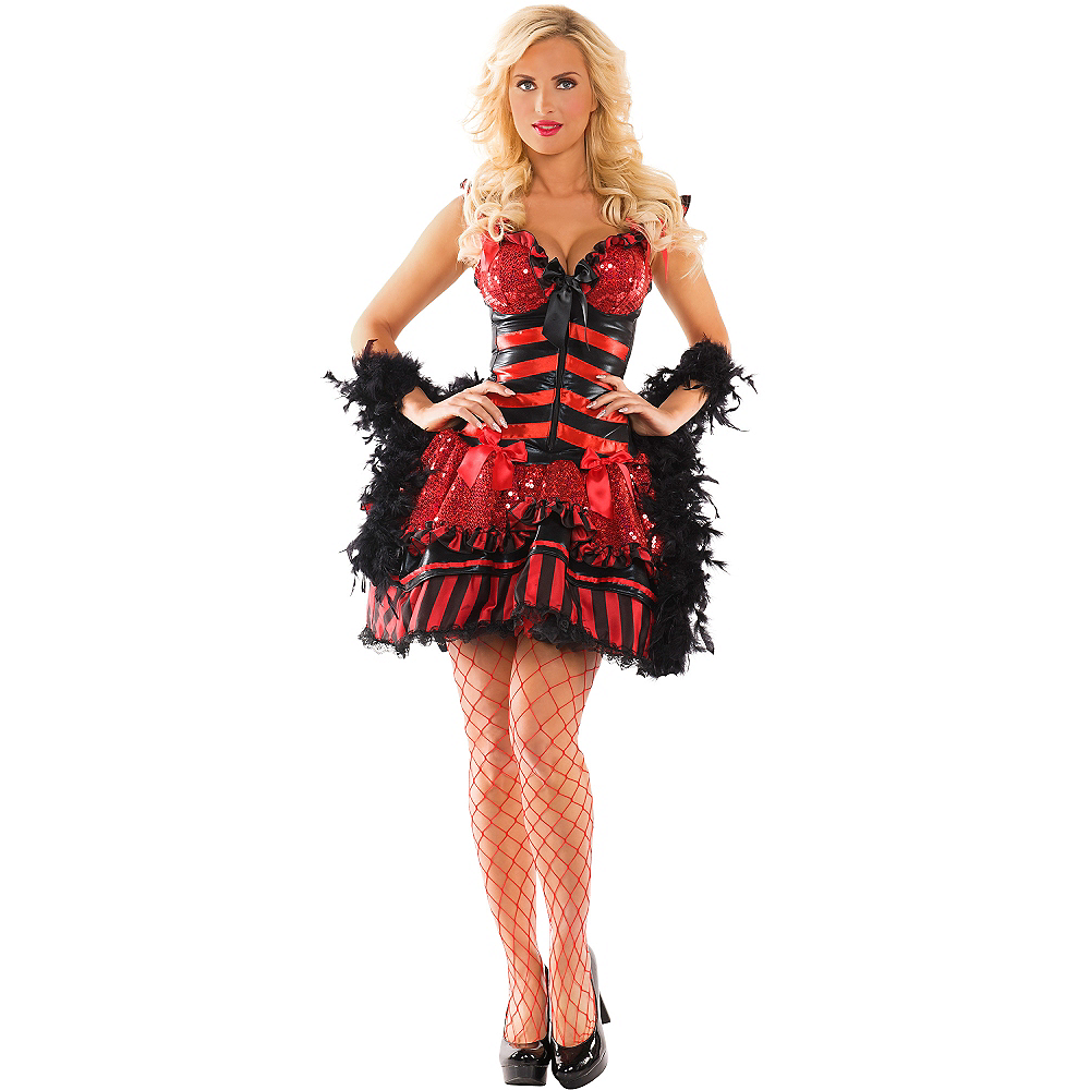 Adult Burlesque Babe Body Shaper Costume Image #1