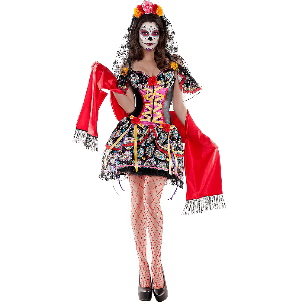 adult la catrina sugar skull body shaper costume day of the dead