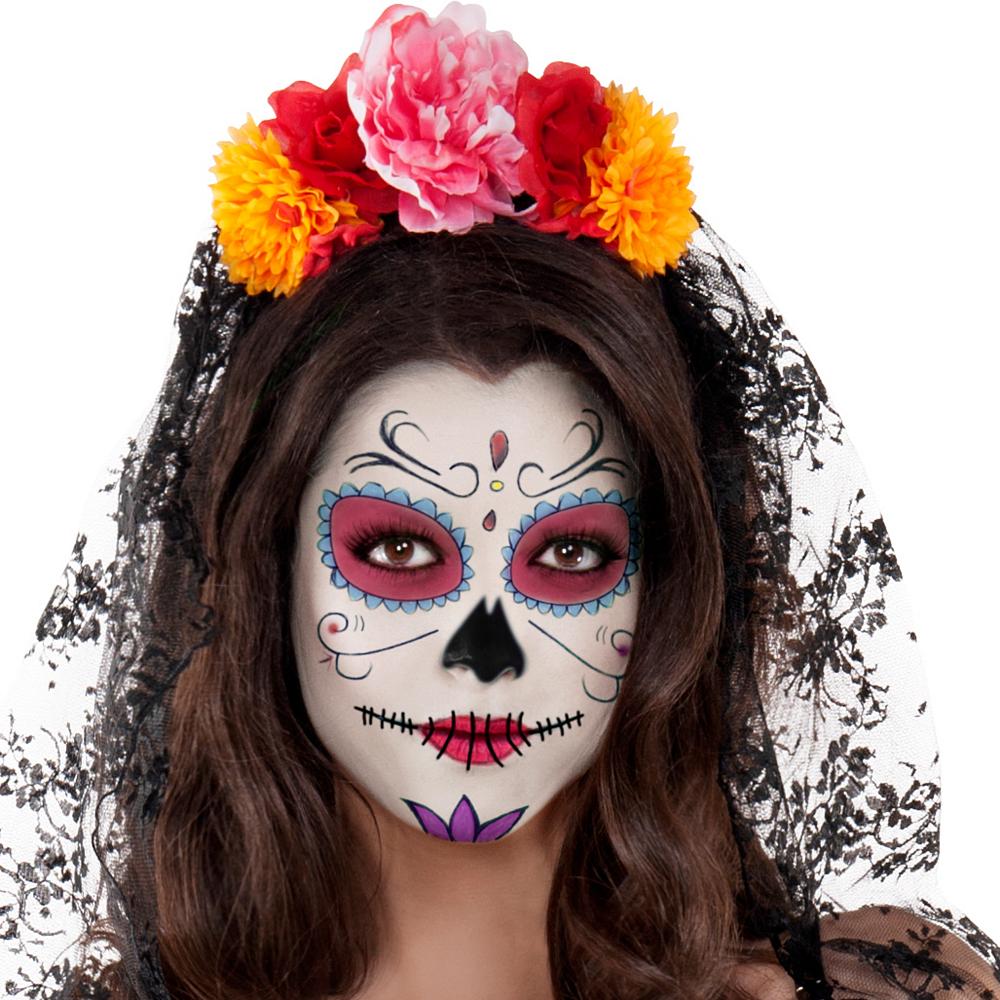 Adult La Catrina Sugar Skull Body Shaper Costume - Day of the Dead Image #2