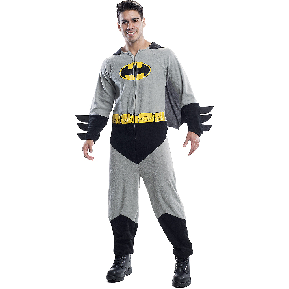 7efa63a806 Adult Batman Onesie Costume Image  1 ...