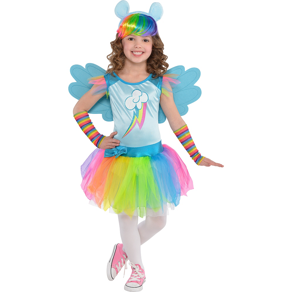 Toddler Girls Rainbow Dash Costume - My Little Pony Image #1