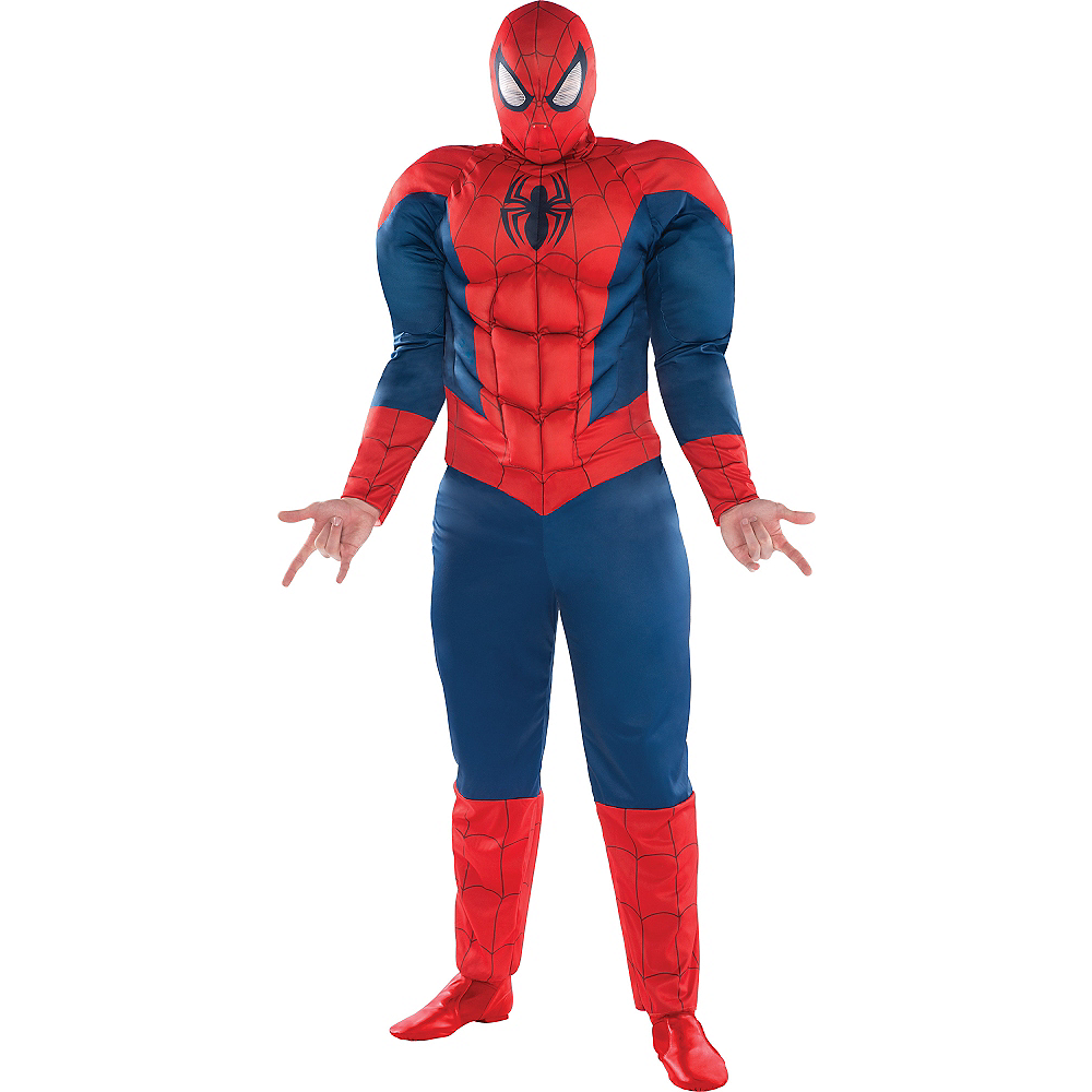 Adult Spider-Man Muscle Costume Plus Size - Classic Spider-Man Image #1