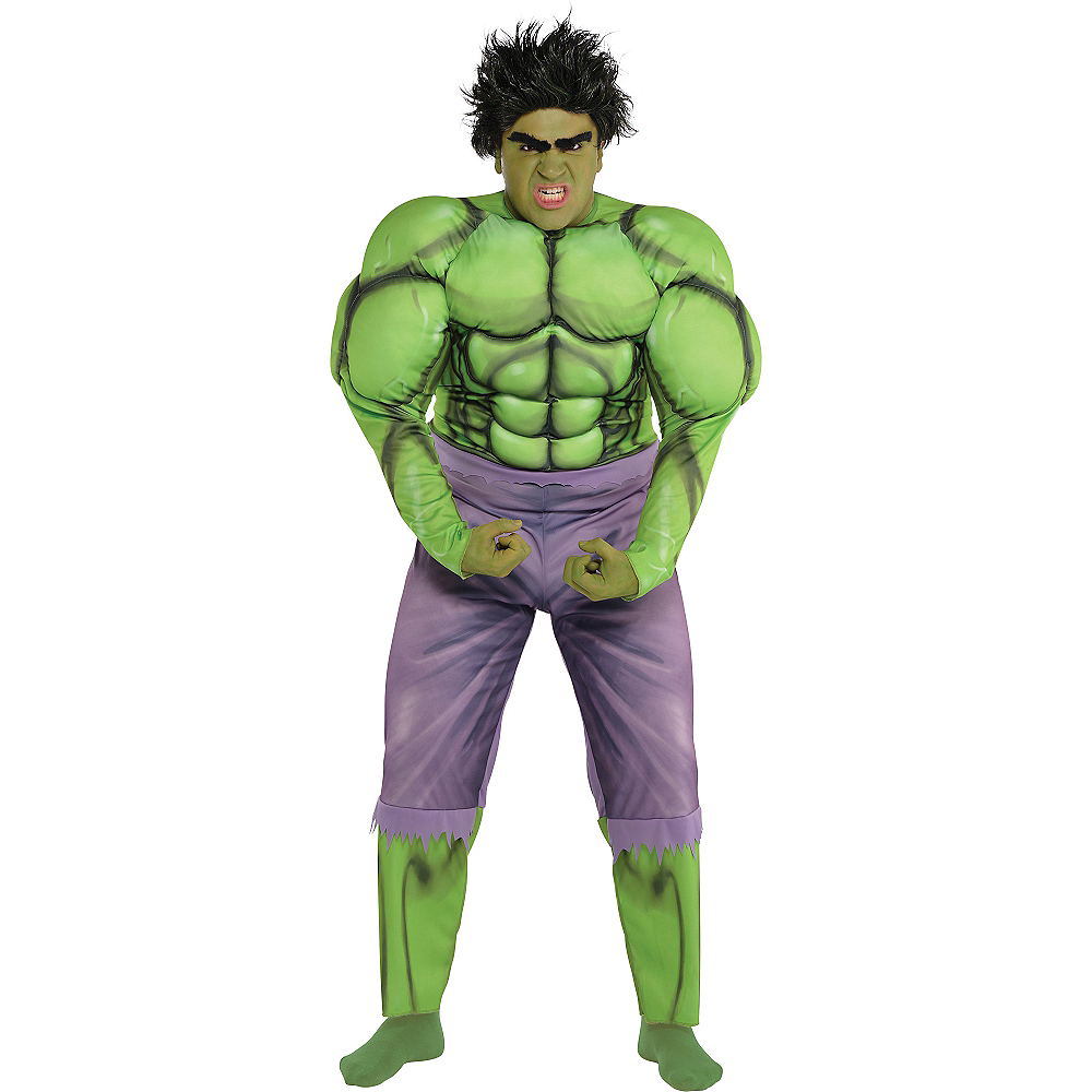 Nav Item for Adult Hulk Muscle Costume Plus Size Image #1