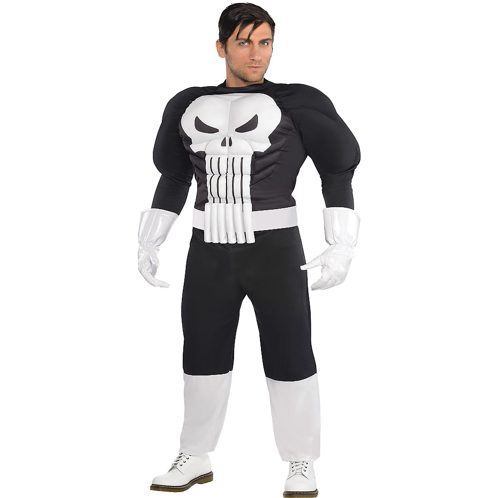 Adult Punisher Muscle Costume Plus Size Image #1